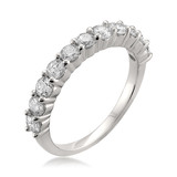 14 WHITE GOLD DIAMOND BAND SET WITH 11 ROUND NEAR COLORLESS DIAMONDS 1 CARAT TOTAL WEIGHT BY IDD DESIGN