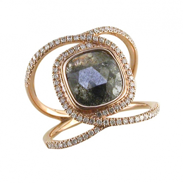 GOLD DIAMOND FASHION RINGS by Asher