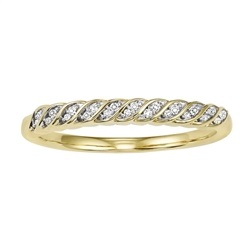 10 KARAT YELLOW GOLD DIAMOND MIXABLE RING SET WITH 22 DIAMONDS .07 CARAT TOTAL WEIGHT