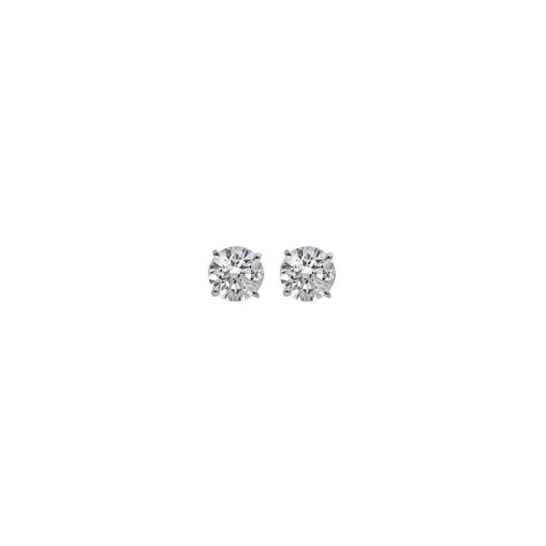 14 KARAT GOLD AND IDEAL CUT TRADITIONAL 4 PRONG DIAMOND SOLITAIRE EARRINGS / 1.48 CARAT TOTAL WEIGHT / LG 11555845-1  LG11555845=-2