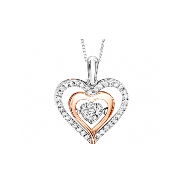 STERLING SILVER/GOLD COMBO DIAMOND PENDANTS by Rhythm of Love