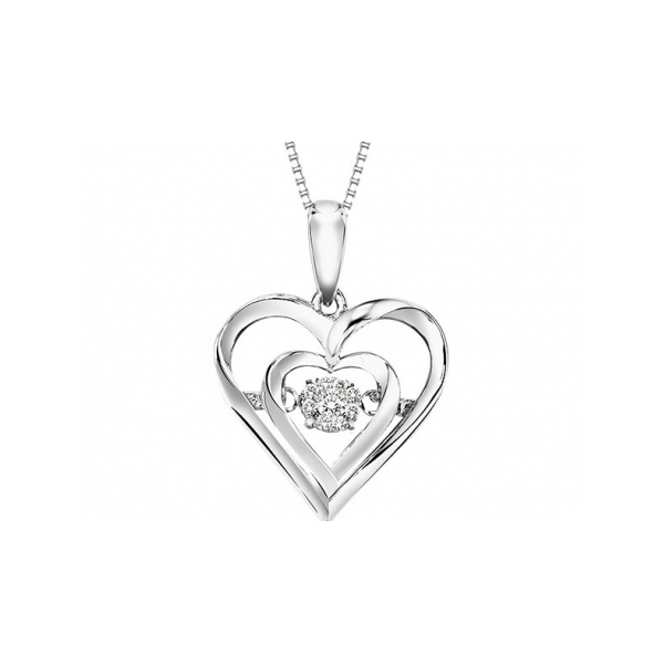 STERLING SILVER AND DIAMOND PENDANTS by Rhythm of Love