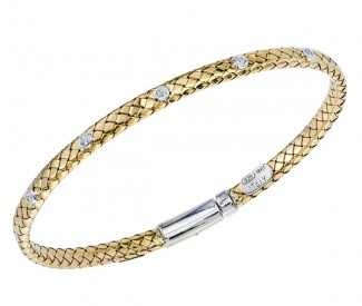 STERLING SILER/GOLD AND DIAMOND BRACELETS by Alisa