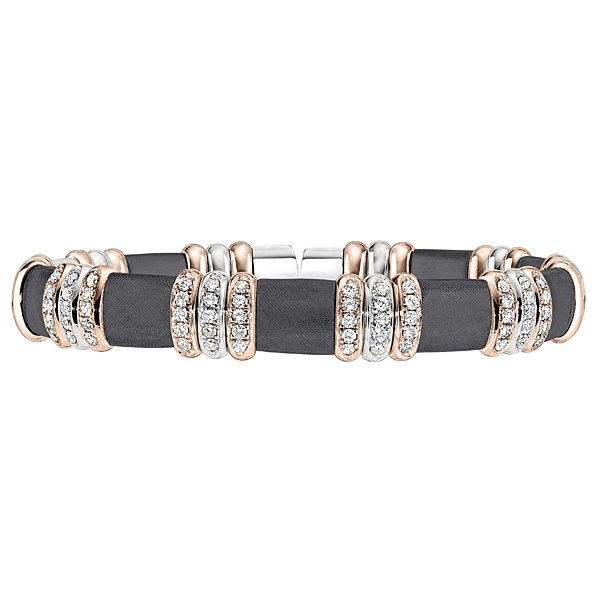 STERLING SILER/GOLD AND DIAMOND BRACELETS by Hendersen Collection