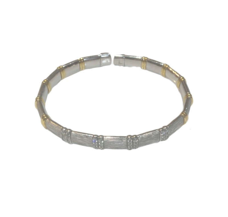 STERLING SILVER AND DIAMOND BRACELETS by Hendersen Collection