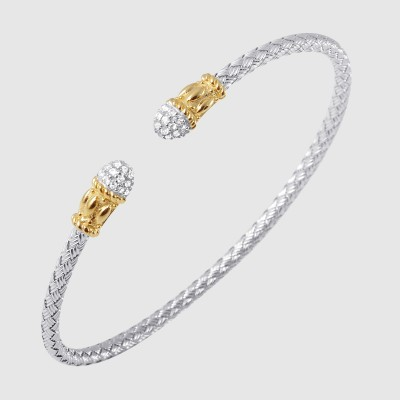 STERLING SILVER/GOLD COMBO SAPPHIRE BRACELETS by Charles Garnier Paris
