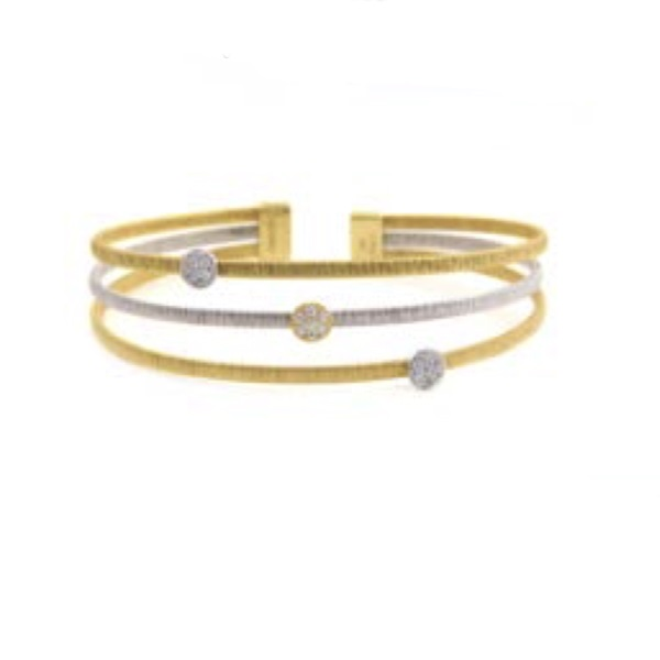 STERLING SILVER/GOLD COMBO SAPPHIRE BRACELETS by Luca by Henderson