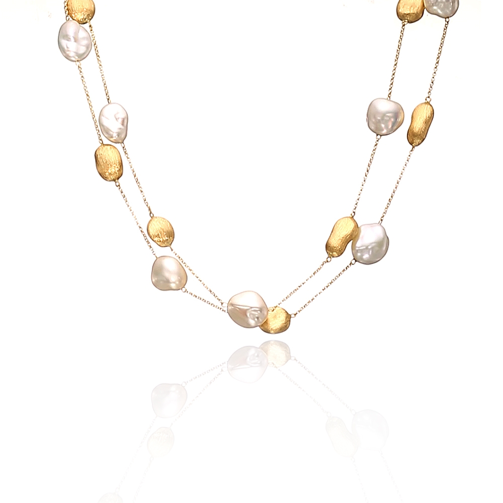 PEARL NECKLACE/GOLD by Yvel