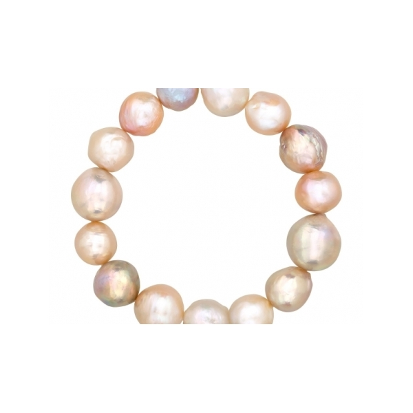 STERLING SILVER/GOLD COMBO PEARL BRACELET by Honora