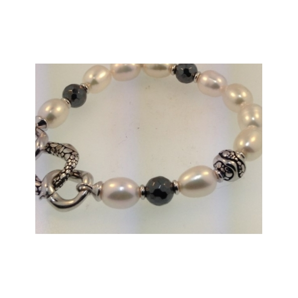 STERLING SILVER AND PEARL BRACELET by Honora