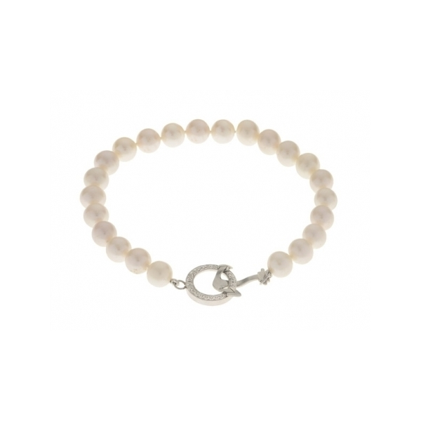 STERLING SILVER/PEARL BRACELET by Imperial Pearls