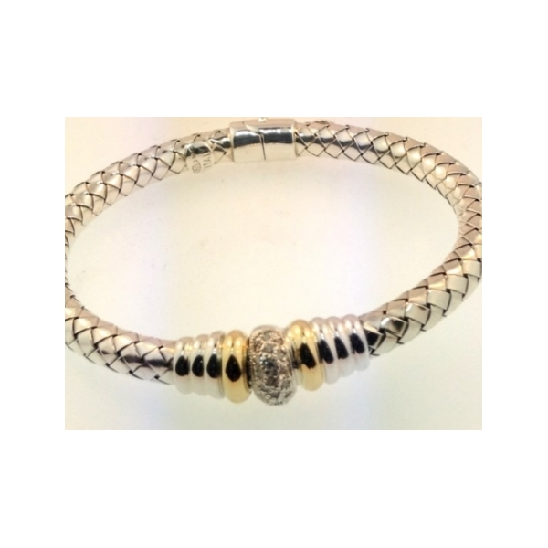 STERLING SILVER AND GOLD BRACELETS by Alisa